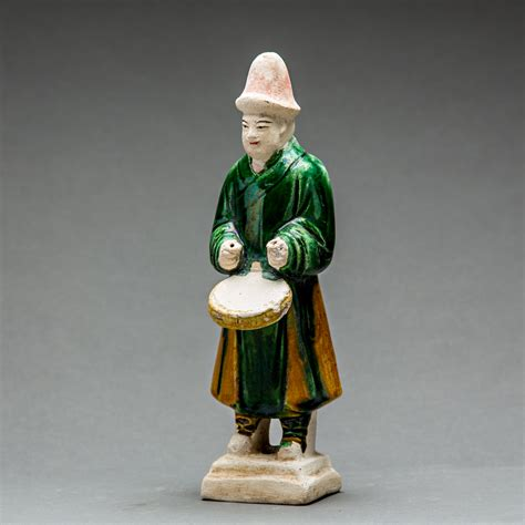 Set Ming Ming set of seventeen ming glazed terracotta musicians and a with rider barakat gallery store