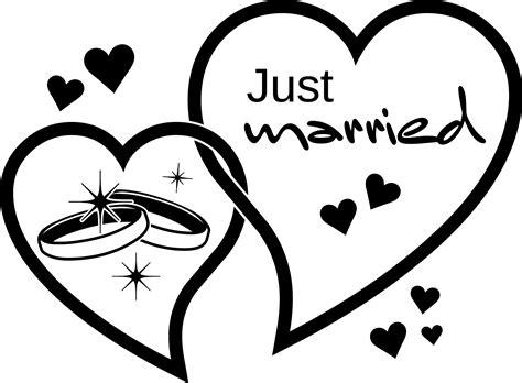 Ringe Zur Hochzeit by Wandtattoo F 252 R Hochzeit Spruch Just Married Herzen Ringe