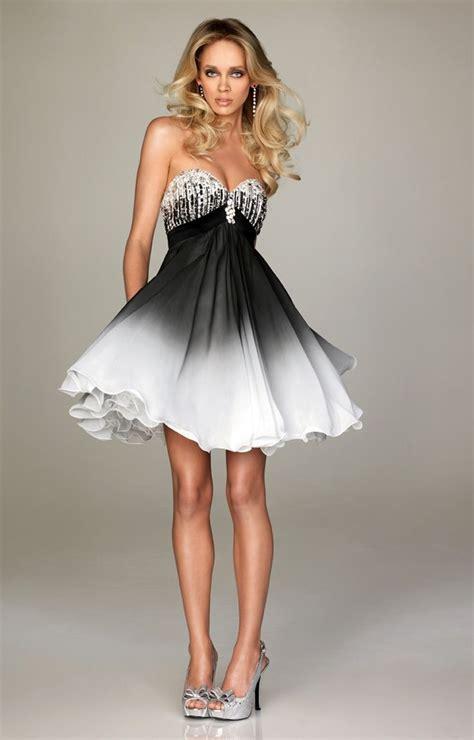 design dress black and white short prom dresses ideas white ombre short prom dresses