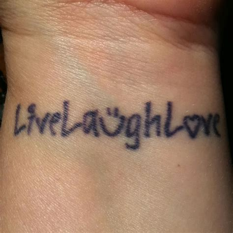 live laugh love tattoo wrist live laugh tattoos