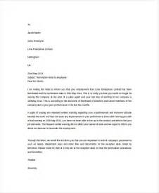 Exle Of Termination Letter To Employee by Doc 1600900 Employee Termination Letter Bizdoska