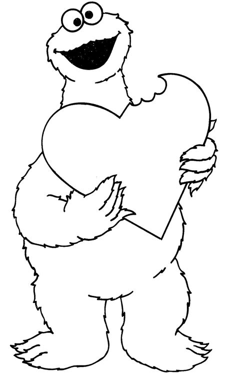 coloring book pages cookie monster valentine s day cookie monster coloring pages coloring