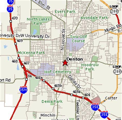 map of denton texas denton texas map and denton texas satellite image