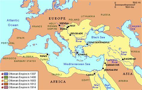 Ottoman Empire 1683 Grolier Atlas