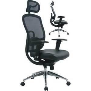 arlanda hr high back leather mesh office chair with headrest