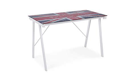 scrivania vetro temperato scrivania in vetro con bandiera inglese tavoli e
