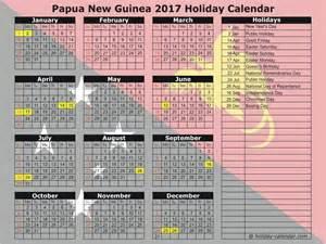 Guinea Calendã 2018 Papua New Guinea 2017 2018 Calendar