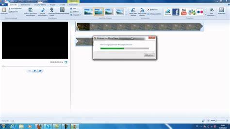 windows movie maker windows 7 tutorial youtube windows 7 videos rendern mit windows movie maker
