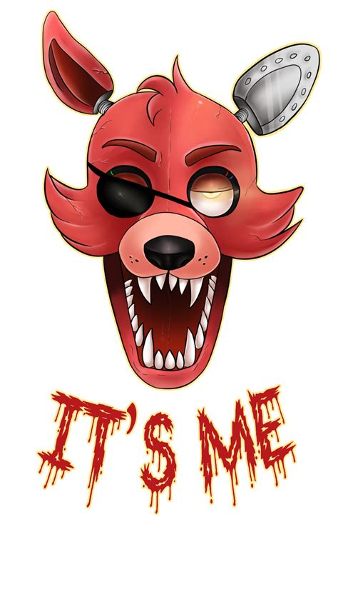 freddys foxy 2 nights at five five nights at freddy s foxy w redbubble link by acidiic