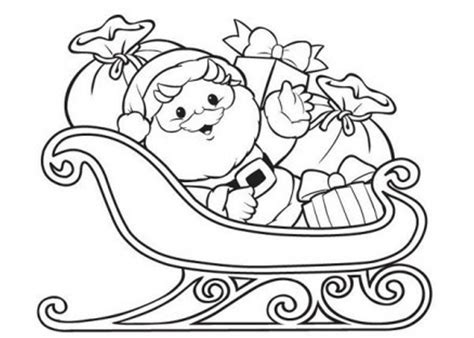 coloring page of santa in his sleigh santa claus coloring pages on sleigh coloringstar