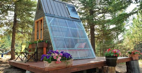 build an a frame house couple builds tiny a frame cabin in three weeks for only