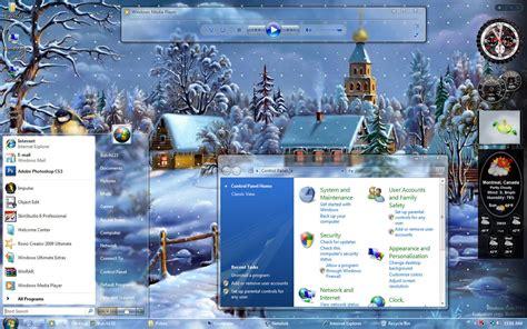 christmas themes pc christmas visual style vista theme themes for pc