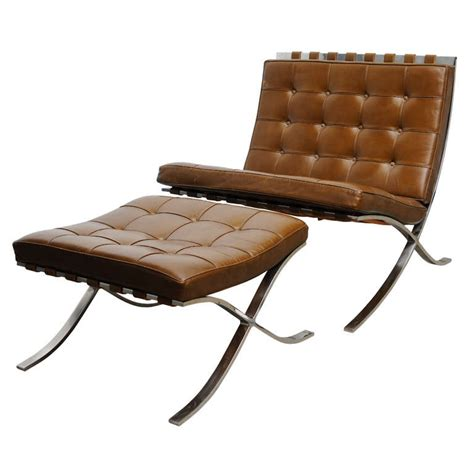 barcelona chair and ottoman vintage mies van der rohe quot barcelona quot chair and ottoman at