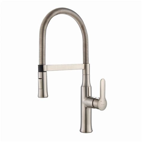 industrial kitchen faucets stainless steel kraus nola flex single handle commercial style kitchen