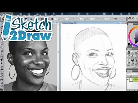 sketchbook pro vs corel painter how to draw a portrait using guidelines with corel painter