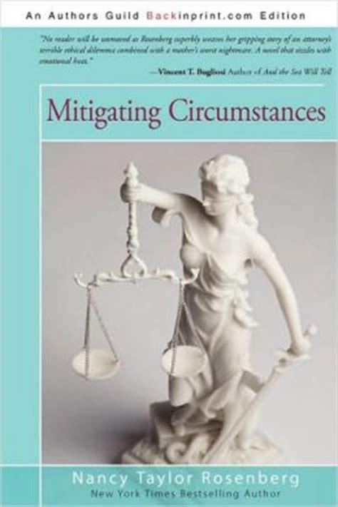 mitigating circumstances by nancy rosenberg