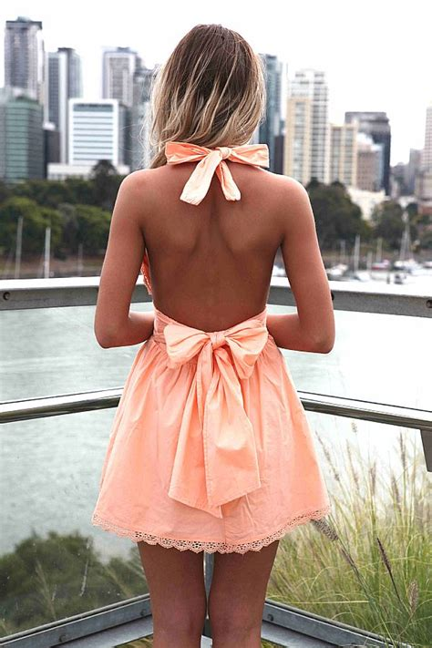 Mini Big Orange Pink orange mini dress light orange halter dress with ustrendy