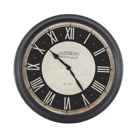 Rohs Standard Clock Shaped Indoor And Outdoor Analog Thermometer shop decor therapy glenmont analog indoor wall clock
