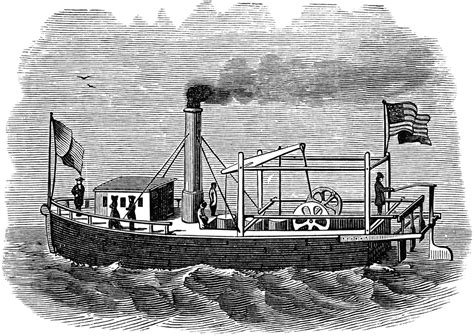 steamboat invention fitch s steamboat clipart etc