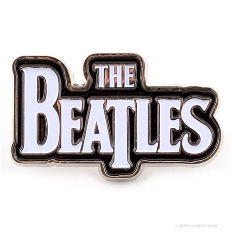 The Beatles Black Logo the beatles logo pin on sale for 7 99 at the hippie shop