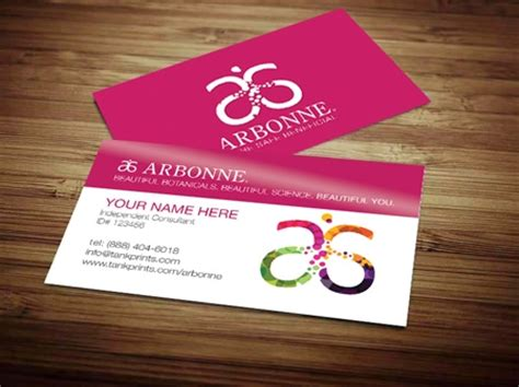 arbonne business cards template arbonne business card design 5