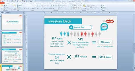 slide deck templates free investors deck powerpoint template free powerpoint templates slidehunter