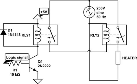 230v 230v ac relay circuit electrical engineering stack