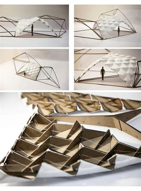 Architectural Paper Folding - tectonic bamboo and folding paper practical sparkles