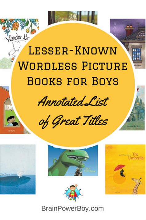 best wordless picture books best books for boys lesser known wordless picture books