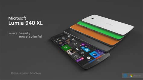 Microsoft 940 Xl microsoft lumia 940 xl gets a fresh vision and design from ashraf amer concept phones