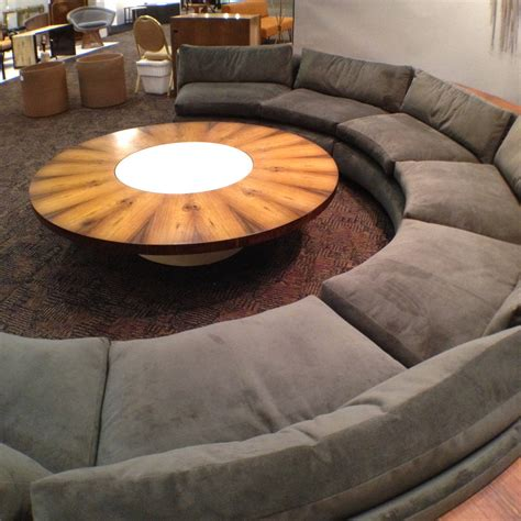 half circle couch complete milo baughman thayer coggin half circle sectional