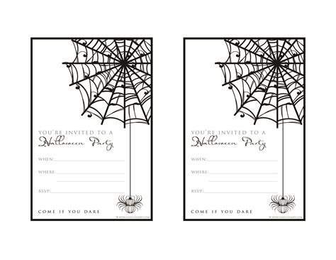 Printable Halloween Party Invitations Print | free halloween party invitation printable with glitter for