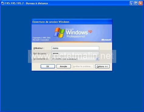 windows xp bureau 224 distance connexion