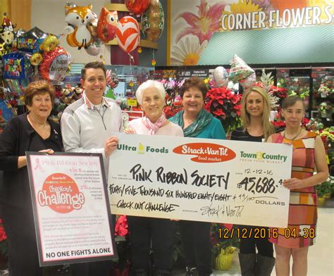 Strack And Van Til Gift Card - 2016 community fundraisers pink ribbon society