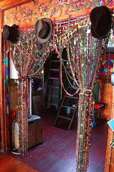 Bohemian Style Curtains Hippie Beaded Curtains Gypsys Trs Thieves Pinterest I Bohemian And