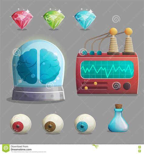 game design equipment gemstones cartoons illustrations vector stock images