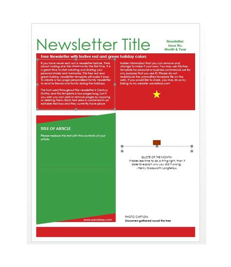 50 Free Newsletter Templates For Work School And Classroom Free Sle Newsletter Templates