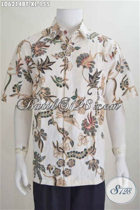 jual kemeja batik motif bunga kwalitas bagus hem batik