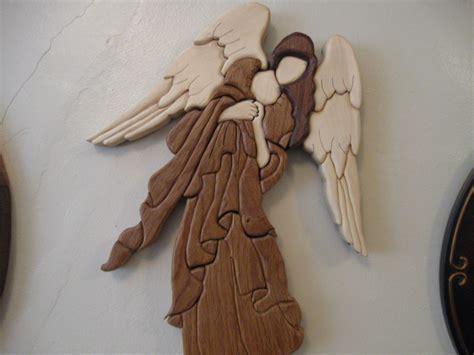wood pattern for angel intarsia wood angel handmade michigan