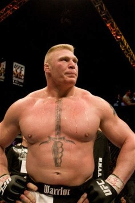 brock lesnar chest tattoo the phantom knee june 2010