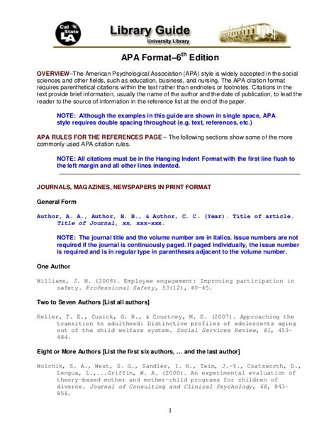 apa format latest edition apa format 6th edition