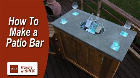 patio bar diy concrete counter bar