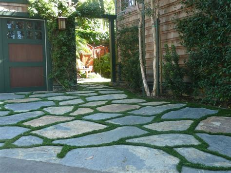 dog pet products synthetic lawn flagstone path