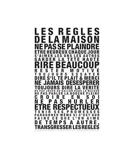 Affiche Les Regles De La Maison 2923 by Affiche Les R 232 Gles De La Maison Papeterie Et Affiches