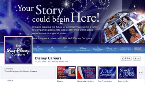 fb jobs 5 great facebook timeline covers of corporate careers