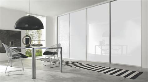 white gloss sliding wardrobe doors