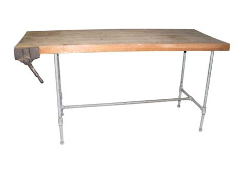 butcher block work benches steel pipe frame work bench with butcher block top olde