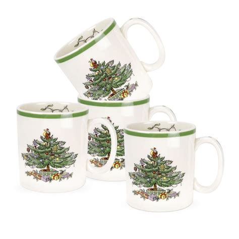 spode christmas tree set of 4 mugs spode usa