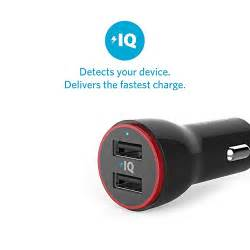 Anker Powerdrive 5 Port Car Charger Black A2311h12 anker powerdrive 2 24w 4 8a 2 port usb car charger