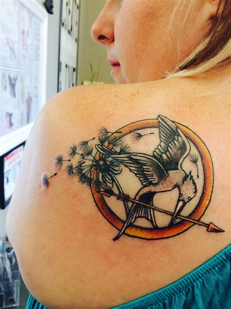 mockingjay tattoo my new hunger obsession